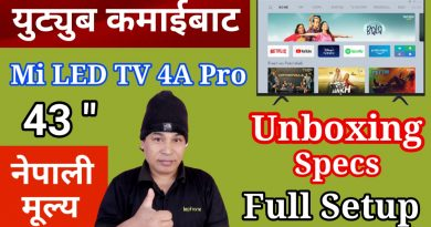 From YouTube Earnings, Mi Smart LED TV 4A Pro | Unboxing, Reviews and Specifications, Price in Nepal